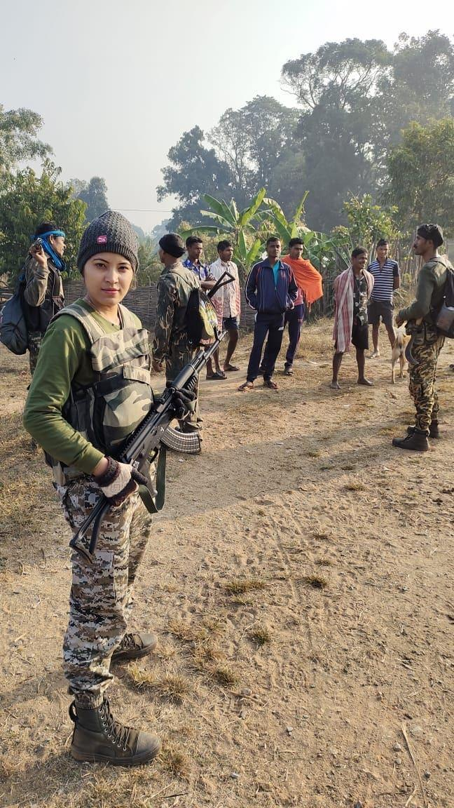 Sahu was the leader of the special anti naxal force the Danteshwari Fighter in the state.Image Credit: Shilpa Sahu / News18