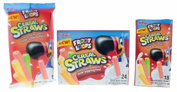 PHOTO: Kellogg's Froot Loops Cereal Straws in new packaging.   (Kellogg)