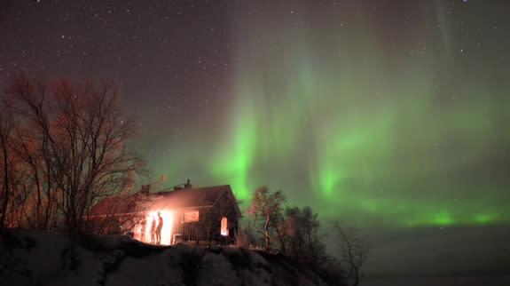 This view of the aurora borealis over Sweden was captured by astrophotographer Chad Blakley.