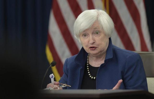 Federal Reserve Chair Janet Yellen speaks during a news conference in Washington, Wednesday, March 15, 2017. (AP Photo/Susan Walsh)