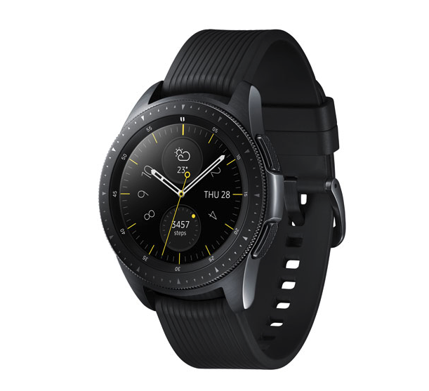 Samsung Galaxy Watch 42mm Smartwatch with Heart Rate Monitor. Image via Best Buy.