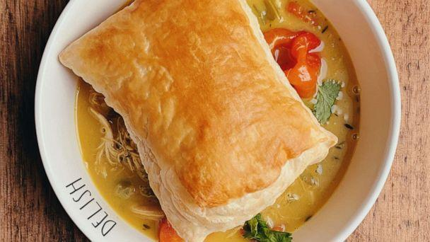 PHOTO: Curry chicken pot pie with puff pastry topping. (Just Add Hot Sauce)