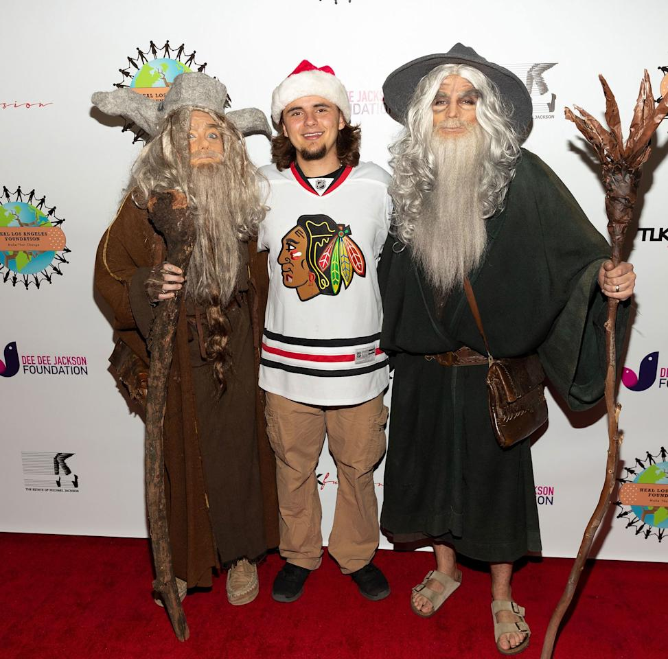 On Friday, Paris Jackson, Michael Joseph Jackson Jr. and Gabriel Glenn dress up for the third annual Thriller Night Costume Party to benefit The Heal LA Foundation in Los Angeles.