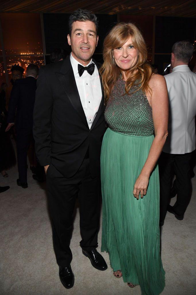 <p>Look! A reunion between Mr. and Mrs. Taylor from the 2020 Golden Globes. Wonder how they're doing in Philadelphia these days?</p>