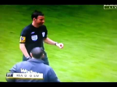 <p>If you're going to officiate a top level football match you may want to check you're fully prepared.</p> <br><p>Clattenburg somehow managed to forget his cards before a game between Reading and Liverpool, trotting off to the side to collect a pair of cards from a colleague.</p> <br><p>Another howler from the comedic figure that is Mark Clattenburg.</p>