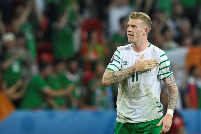 Ireland midfielder James McClean