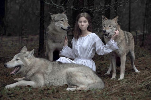 "<p>""I am trying to shoot scenes from popular Russian fairy tales as most of them have animals as their main characters."" (Photo: Olga Barantseva/Caters News) </p>"