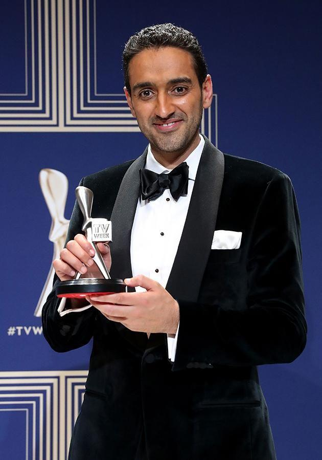 Waleed was presented with the Best Presenter award at the Logies. Photo: Getty
