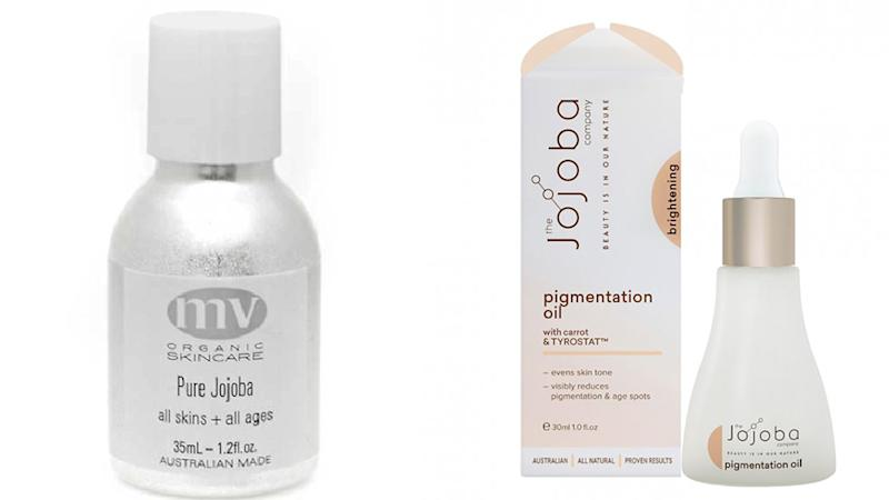 (Left) MV jojoba oil and (right) Priceline jojoba oil. Photo: Detox Market/ Priceline