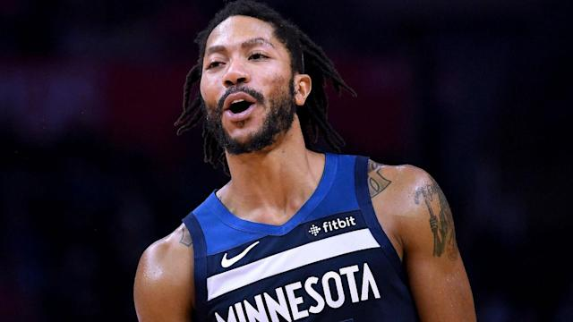Finding form once more in the NBA, Minnesota Timberwolves guard Derrick Rose is happy.