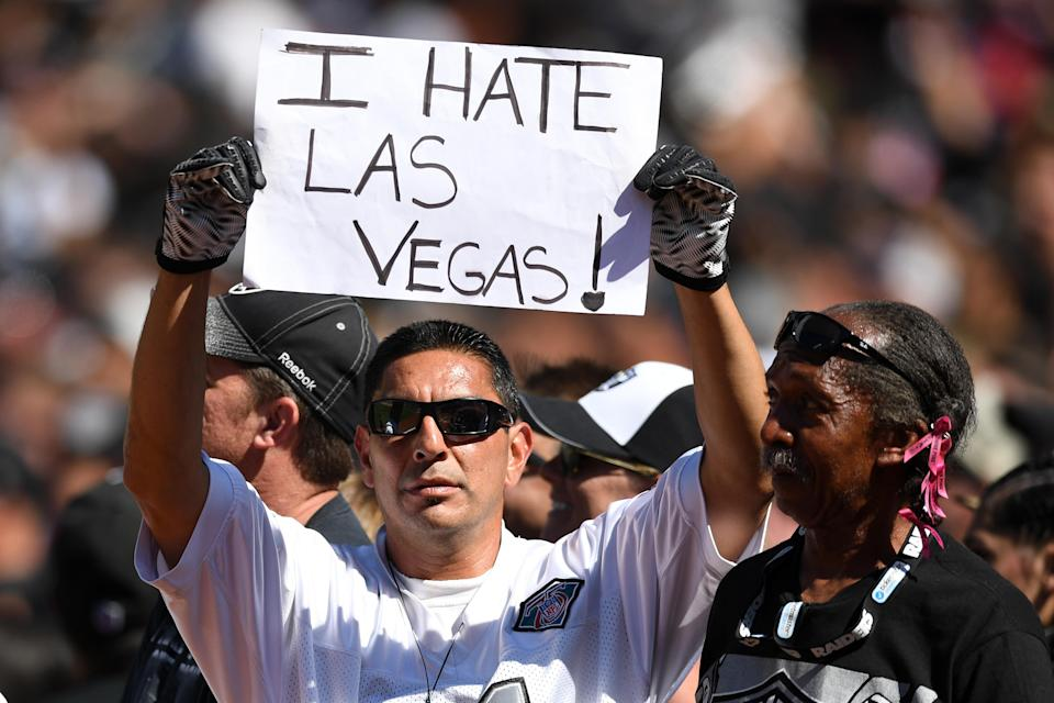 A federal lawsuit filed by Oakland against the Raiders puts in peril where the team will play in 2019. (Getty)
