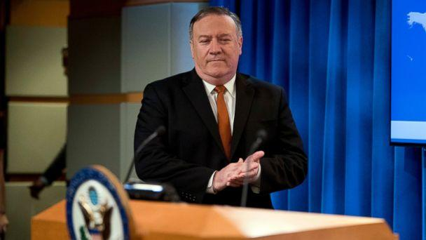 PHOTO: Secretary of State Mike Pompeo arrives to speak at a news conference in the press briefing room at the State Department in Washington, Friday, Sept. 14, 2018, in Washington (AP)