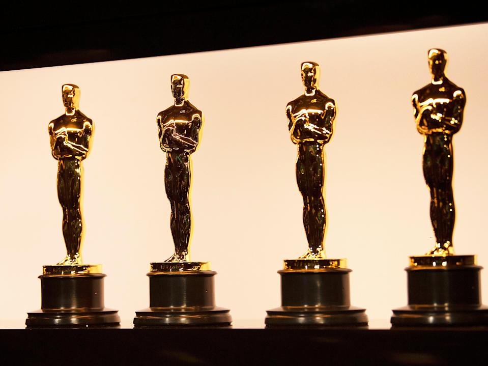 Oscars statuettes at the Academy Awards on 9 February 2020 in Hollywood, California (Matt Petit – Handout/AMPAS via Getty Images)