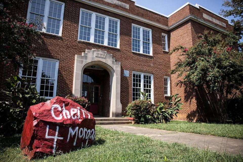 The historic Morgan School in Charlotte. The school was built in 1925 to serve as an elementary school for the African-American neighborhood that surrounds it.