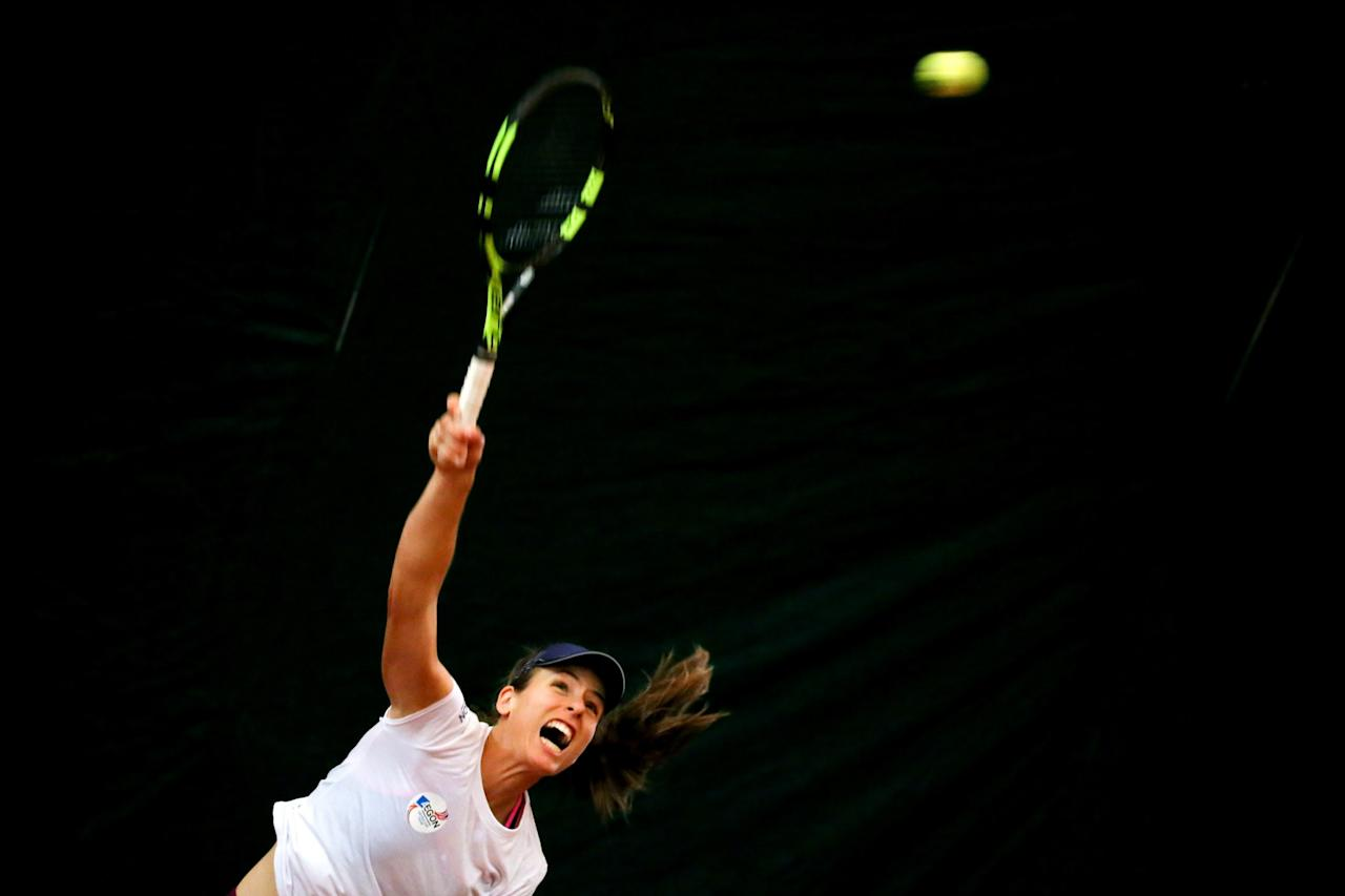 <p>Johanna Konta for Team GB in the Fed Cup </p>