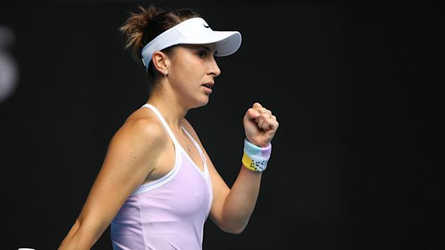 Johanna Konta was the biggest name to lose in St Petersburg, where Belinda Bencic booked her place in the last eight.
