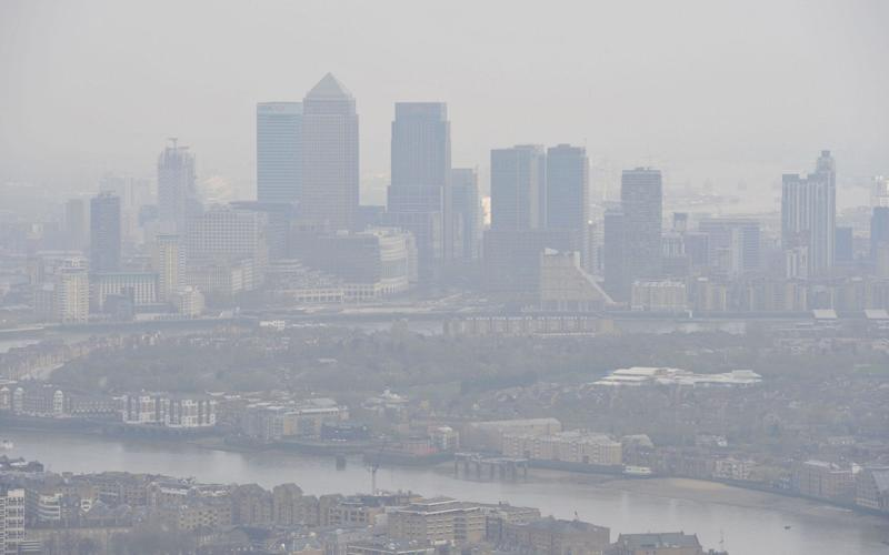 Air pollution over London  - PA
