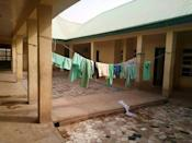 The school in Jangebe, Nigeria, where more than 300 schoolgirls were kidnapped in the country's latest mass abduction