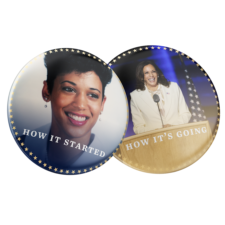 Kamala Then and Now Buttons - 2 Pack