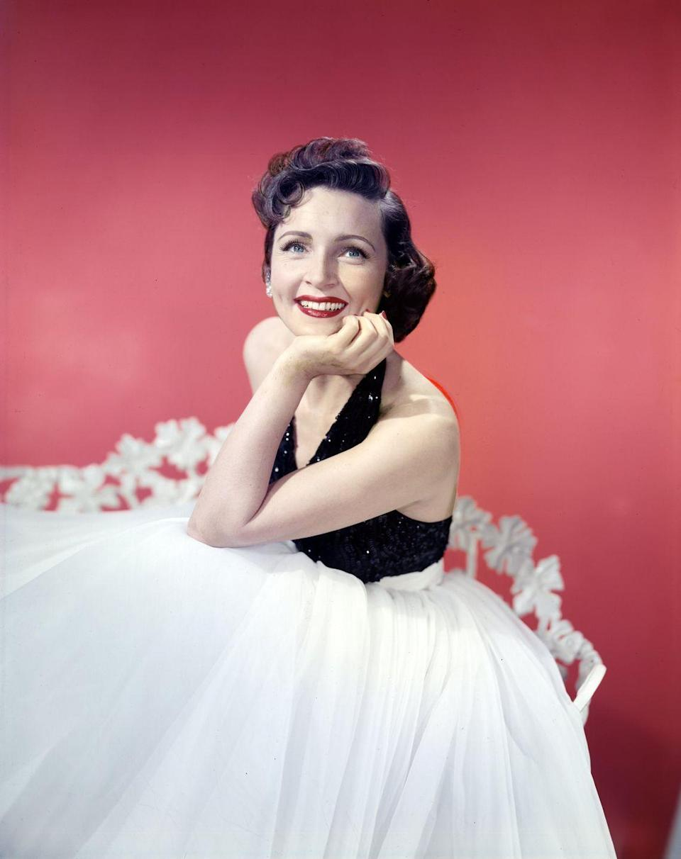 """<p>Betty's career took off in the 1950s, but it almost didn't happen. The actress's second husband, Lane Allen, tried to get her to <a href=""""https://www.insider.com/betty-white-facts-career-2019-1#whites-showbiz-career-could-have-been-cut-short-if-she-stayed-with-second-husband-lane-allan-10"""" rel=""""nofollow noopener"""" target=""""_blank"""" data-ylk=""""slk:quit show business"""" class=""""link rapid-noclick-resp"""">quit show business</a> and stay home during their two-year marriage—she filed for divorce in 1949 instead. </p>"""