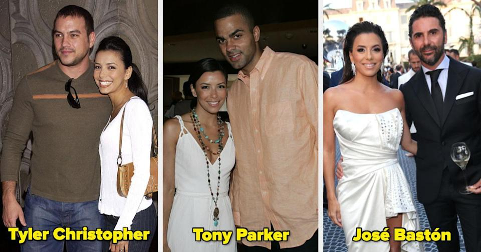 Eva Longoria with two ex-husbands and her current husband