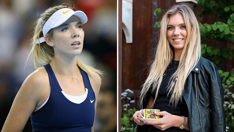 Katie Boulter, who hasn't played since April, attended a flower show on Wednesday and pulled out of the French Open on Friday. Pic: Getty