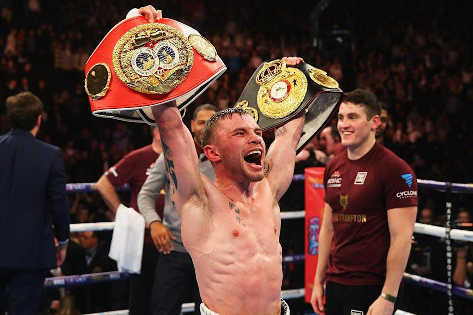 <p>Can Carl Frampton become a three-weight world champion in Dubai?</p> ((Alex Livesey/Getty Images))