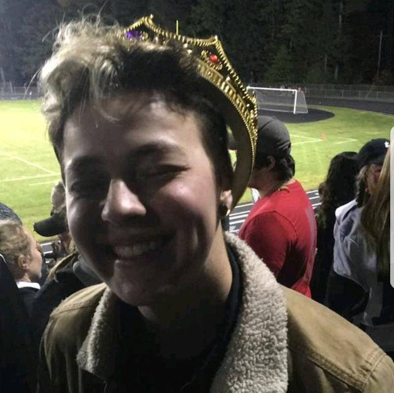 Transgender teen Stiles Zuschlag was named homecoming king on Friday.