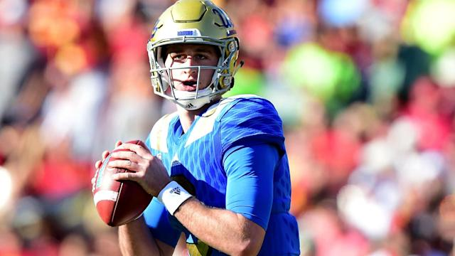Josh Rosen made a fair critique of student-athlete culture, but will it hurt him in the long run with the NFL? (Getty)