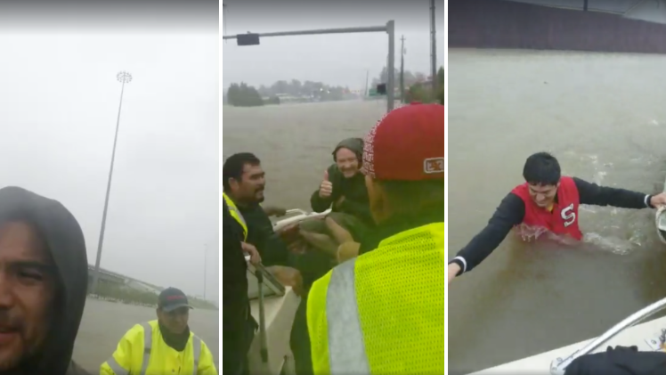 Images from one of several live videos posted to a Facebook page belonging to one of the men whose rescue efforts ended in tragedy on Monday. (Ben Jimmy Vizueth)