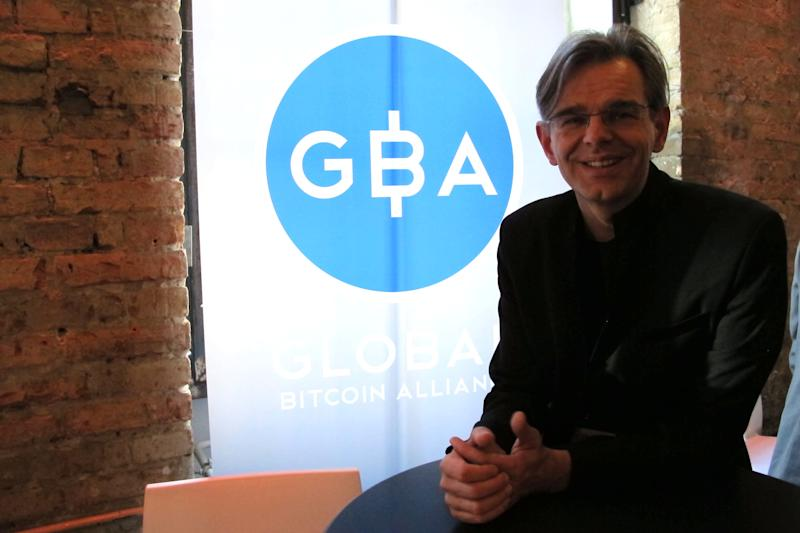 Aaron Koenig, managing director of the Global Bitcoin Alliance, poses for a picture at the Inside Bitcoins conference in Berlin on Wednesday, Feb. 12, 2014. The Global Bitcoin Alliance describes itself as an umbrella group for non-profits organizations that promote the currency at a national level. (AP Photo/Frank Jordans)