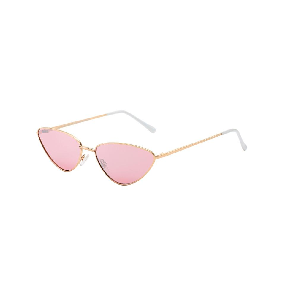 """<p><strong>Piranha Eyewear</strong></p><p>walmart.com</p><p><strong>$12.88</strong></p><p><a href=""""https://go.redirectingat.com?id=74968X1596630&url=https%3A%2F%2Fwww.walmart.com%2Fip%2F865078735&sref=https%3A%2F%2Fwww.thepioneerwoman.com%2Ffashion-style%2Fg36003005%2Fbest-cat-eye-sunglasses%2F"""" rel=""""nofollow noopener"""" target=""""_blank"""" data-ylk=""""slk:Shop Now"""" class=""""link rapid-noclick-resp"""">Shop Now</a></p><p>Channel your inner hippie with these rose-tinted lenses. Even though they're lighter, they still protect against 100% of UV rays. </p>"""