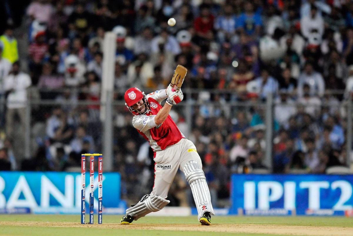 David Hussey captain of Kings XI Punjab bats during match 41 of the Pepsi Indian Premier League ( IPL) 2013  between The Mumbai Indians and the Kings XI Punjab held at the Wankhede Stadium in Mumbai on the 29th April 2013. (BCCI)