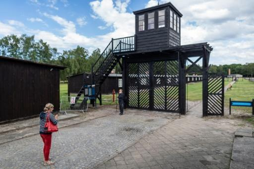 """The so-called """"Gate of Death"""" at the former Stutthof death camp, now a museum"""