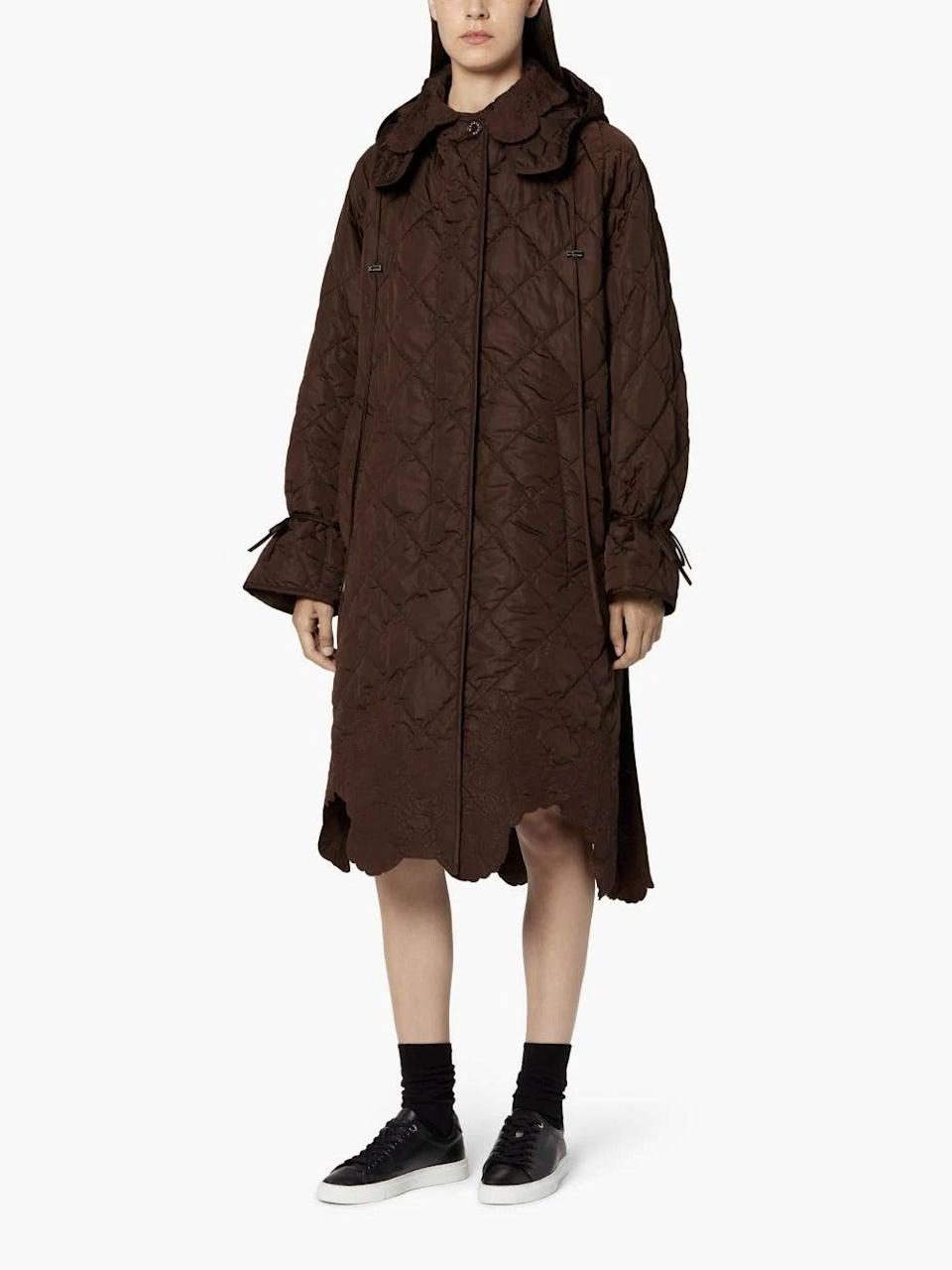 """<br><br><strong>Mackintosh x Cecilie Bahnsen</strong> Brown Nylon Oversized Hooded Coat, $, available at <a href=""""https://www.mackintosh.com/gb/shopping/cecilie-bahnsen-brown-nylon-oversized-hooded-coat-15465619?"""" rel=""""nofollow noopener"""" target=""""_blank"""" data-ylk=""""slk:Mackintosh"""" class=""""link rapid-noclick-resp"""">Mackintosh</a>"""