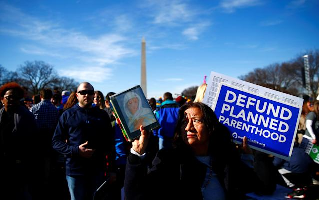<p>Participants attend the annual March for Life anti-abortion rally in Washington, Jan.19, 2017. (Photo: Eric Thayer/Reuters) </p>