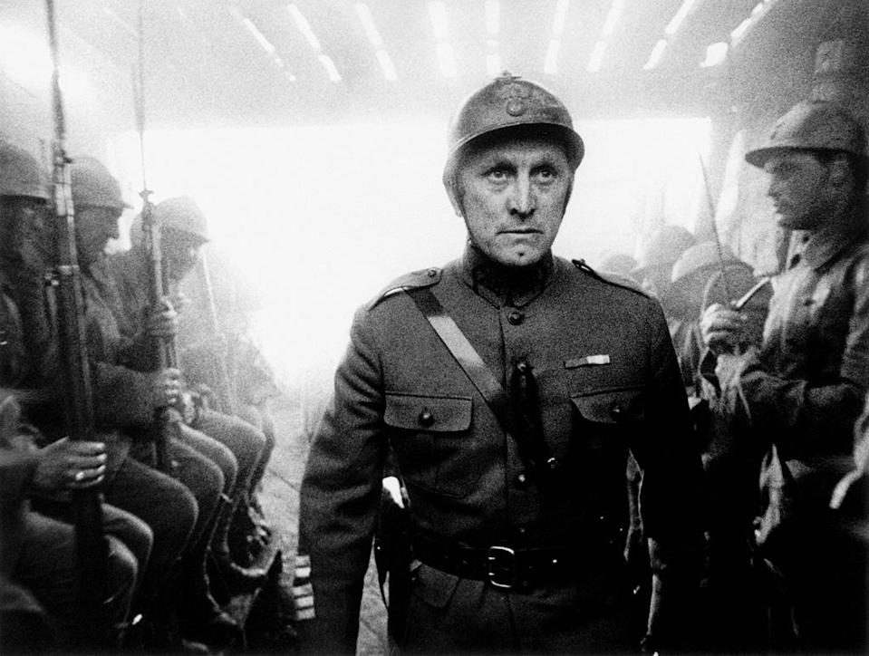 """<a href=""""http://movies.yahoo.com/movie/paths-of-glory/"""" data-ylk=""""slk:PATHS OF GLORY"""" class=""""link rapid-noclick-resp"""">PATHS OF GLORY</a> (1958) <br>Directed by: <span>Stanley Kubrick</span> <br>Starring: <span>Kirk Douglas</span>, <span>Ralph Meeker</span> and <span>Adolphe Menjou</span>"""