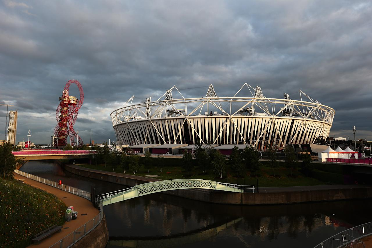 LONDON, ENGLAND - JULY 17:  A general view of the Olympic Stadium during previews ahead of the London 2012 Olympic Games at Olympic Park on July 17, 2012 in London, England.  (Photo by Paul Gilham/Getty Images)