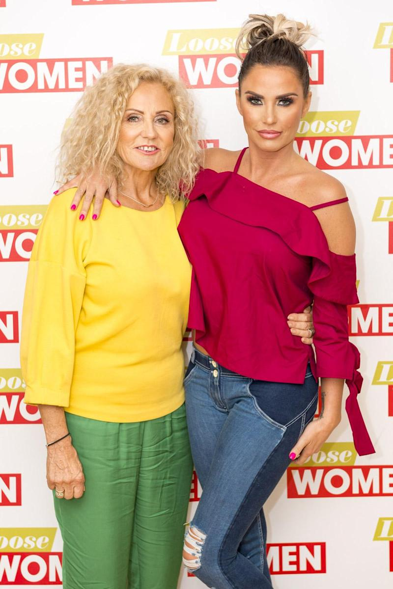 Mother's love: Katie Price with her mother Amy Price (Rex)