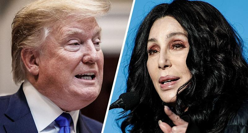 President Trump and Cher. (Photos: Tom Brenner/Getty Images, Sam Morris/Getty Images)