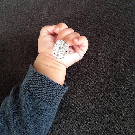 Kim Kardashian's Daughter North West Holds Her Engagement Ring On NYE: Picture