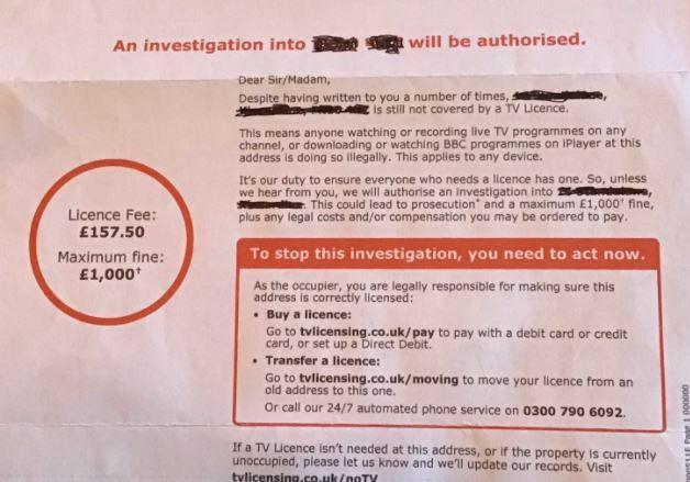 TV Licensing sent this letter to a dead woman (Picture: TV Licensing)
