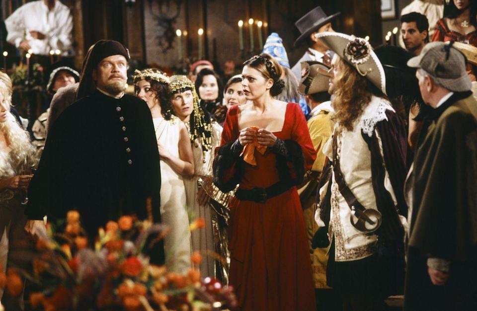 """<p>It's a classic comedy of errors in this episode from <em>Frasier</em>'s fifth season, all revolving around a possible pregnancy. Roz swears Frasier to secrecy when she discovers she may be expecting, but a series of misinterpretations and overheard conversations lead Niles to challenging his brother to a duel for Daphne's honor. </p><p><a class=""""link rapid-noclick-resp"""" href=""""https://go.redirectingat.com?id=74968X1596630&url=https%3A%2F%2Fwww.hulu.com%2Fseries%2Ffrasier-0cb9b63b-de82-4751-99c9-1cb12118ab9d&sref=https%3A%2F%2Fwww.redbookmag.com%2Fabout%2Fg34171638%2Fbest-halloween-tv-shows-episodes%2F"""" rel=""""nofollow noopener"""" target=""""_blank"""" data-ylk=""""slk:Watch now"""">Watch now</a></p>"""