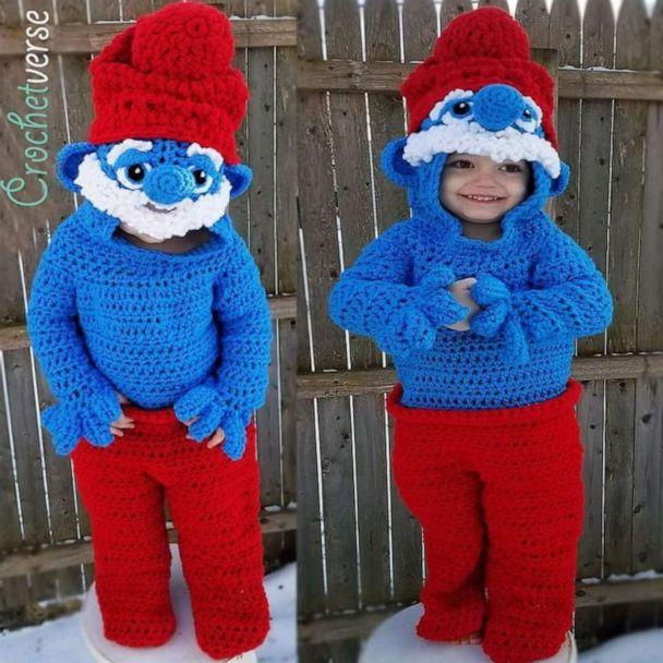 PHOTO: Stephanie Pokorny of Mentor, Ohio, has crocheted some impressive creations for her sons, Jack, 4 and Jacob, 7. (Crochetverse/Stephanie Pokorny)