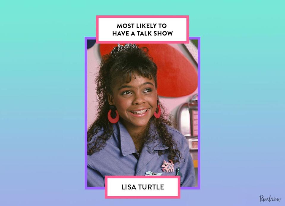 <p>Given her chatty, social nature and impressive matchmaking skills, it makes sense that Lisa would grace the small screen and fill viewers in on the latest gossip. Naturally, all of her outfits would be runway-worthy.</p>