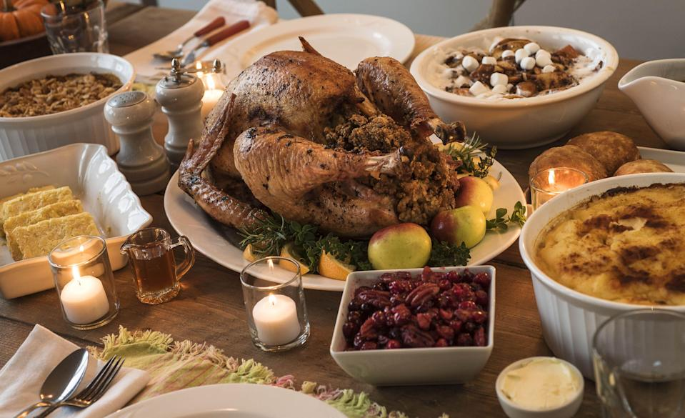 """<p>There's no question Thanksgiving has to look different this year. As coronavirus cases reach new highs nationwide, <a href=""""https://www.cdc.gov/coronavirus/2019-ncov/daily-life-coping/holidays.html"""" rel=""""nofollow noopener"""" target=""""_blank"""" data-ylk=""""slk:the CDC is discouraging"""" class=""""link rapid-noclick-resp"""">the CDC is discouraging</a> large group dinners, mask-less gatherings, holiday travel, and the intermingling of individuals from different households (especially indoors). In order to keep everyone safe, Americans are going to have to make some adjustments to their usual Thanksgiving plans. However, just because you might be alone, or only with immediate family members, doesn't mean the day can't be festive. </p><p>Below, find a number of Thanksgiving activities that will help you celebrate the day, while also keeping yourself, and others, safe. Luckily, some of the core <a href=""""https://www.townandcountrymag.com/leisure/a22725823/thanksgiving-traditions/"""" rel=""""nofollow noopener"""" target=""""_blank"""" data-ylk=""""slk:Thanksgiving traditions"""" class=""""link rapid-noclick-resp"""">Thanksgiving traditions</a>—cooking, eating, and curling up in front of the TV—happen to already by COVID-proof. </p>"""