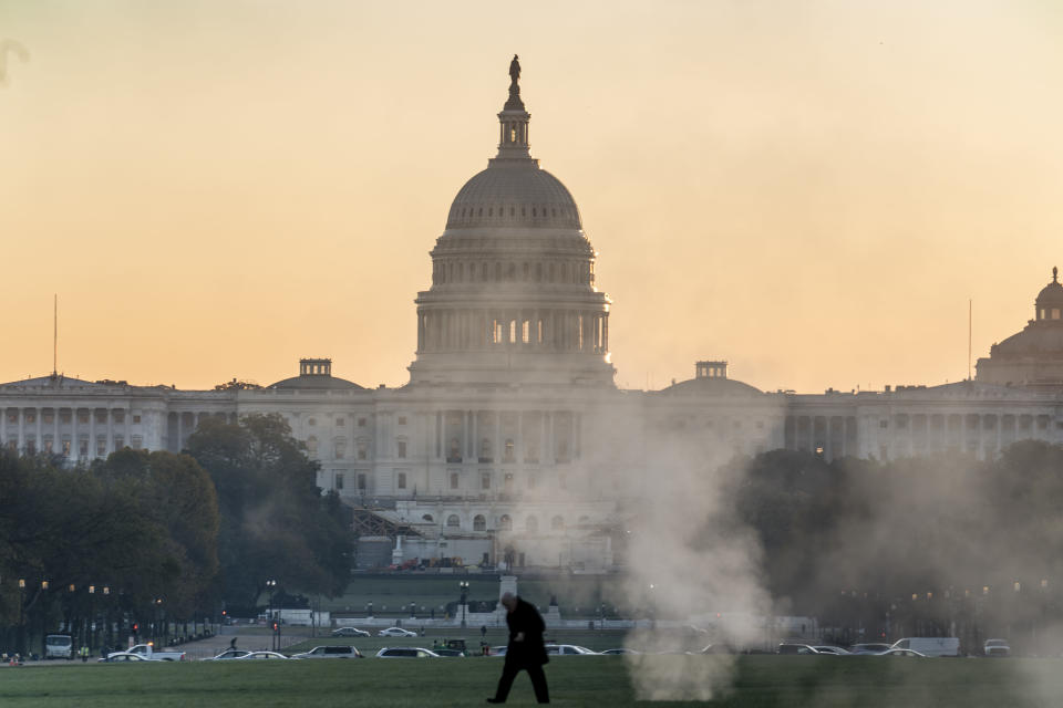 The Capitol is seen in Washington on the morning after Election Day, Wednesday, Nov. 4, 2020. (AP Photo/J. Scott Applewhite)