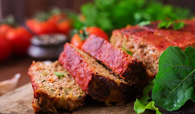 Impossible Foods' vegan meatloaf made with plant-based meat. Photo: Handout