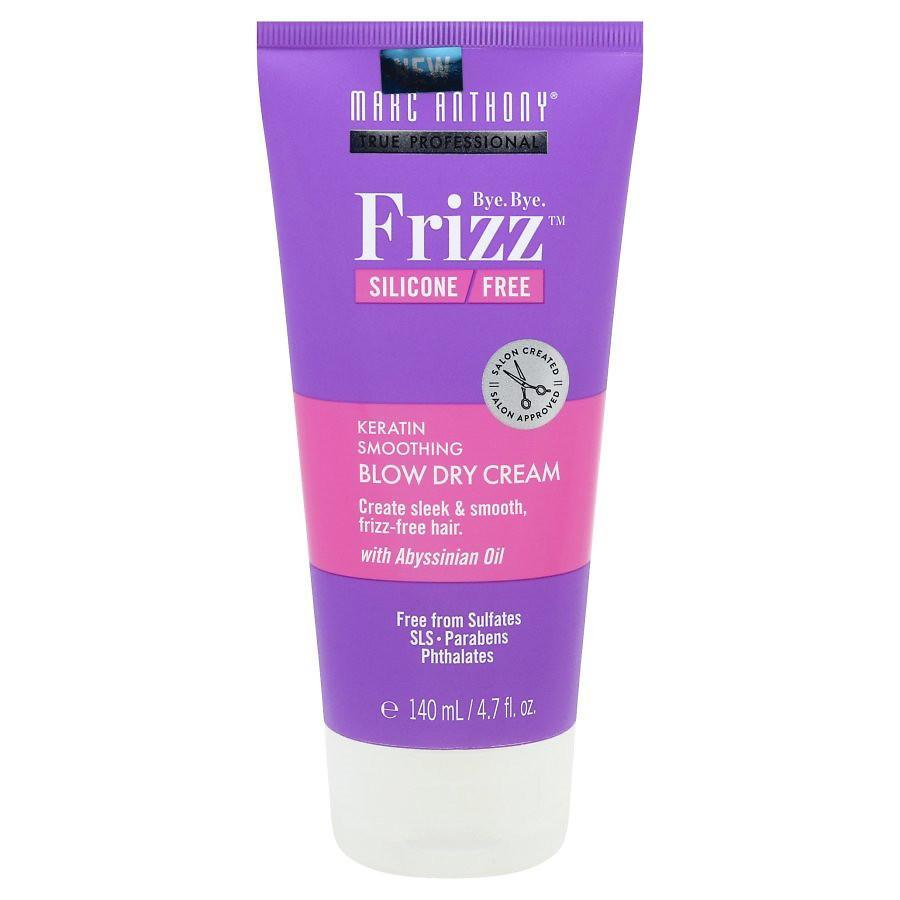 """<h2><h3>Marc Anthony Keratin Smoothing Blow Dry Cream<br></h3></h2> <br>I follow up with a quarter-sized amount of this blowdry cream in each section before putting any hot tools on my hair. It leaves my strands polished, frizz-free, and bouncy once I'm done with the straightening process.<br><br><strong>Marc Anthony</strong> Keratin Smoothing Blow Dry Cream, $, available at <a href=""""https://go.skimresources.com/?id=30283X879131&url=https%3A%2F%2Fwww.walgreens.com%2Fstore%2Fc%2Fmarc-anthony-true-professional-bye-bye-frizz-keratin-smoothing-blow-dry-cream%2FID%3Dprod6144190-product"""" rel=""""nofollow noopener"""" target=""""_blank"""" data-ylk=""""slk:walgreens.com"""" class=""""link rapid-noclick-resp"""">walgreens.com</a><br>"""