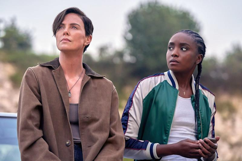 THE OLD GUARD, from left: Charlize Theron, Kiki Layne, 2020. ph: Aimee Spinks / Netflix / Courtesy Everett Collection